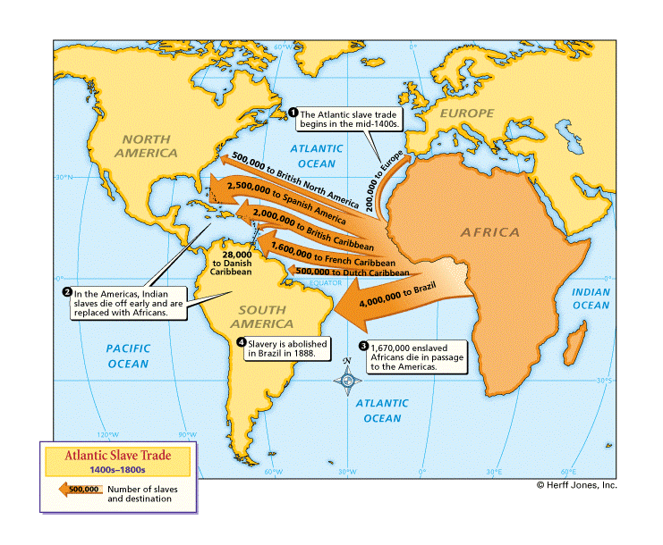 Map: Atlantic Slave Trade