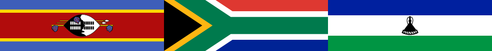 Banner image with the flags of Eswatini, South Africa, and Lesotho