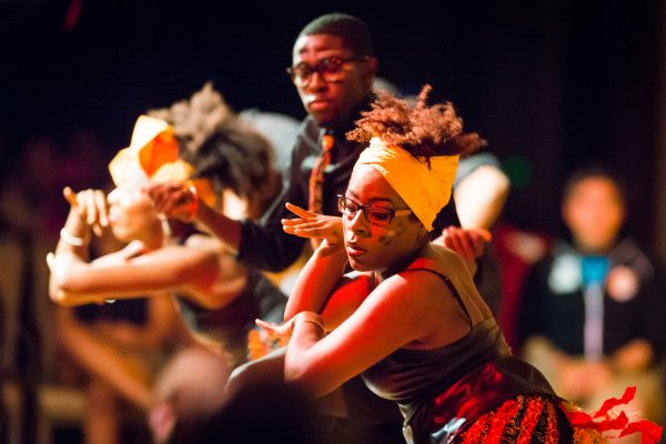 Members of the UW African Student Association perform adance during the Multicultural Student Orientation and Reception